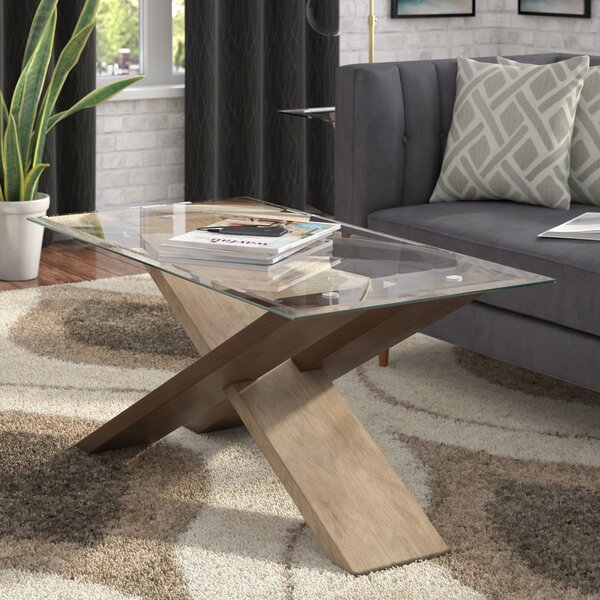Cotaco Cross Legs Coffee Table By Ivy Bronx
