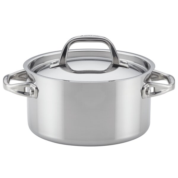 3.5 qt. Tri-Ply Covered Clad Stainless Steel Soup Pot by Anolon
