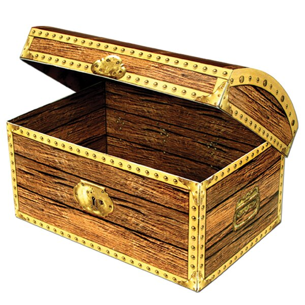 Decorative Paper Treasure Chest Box by The Beistle Company