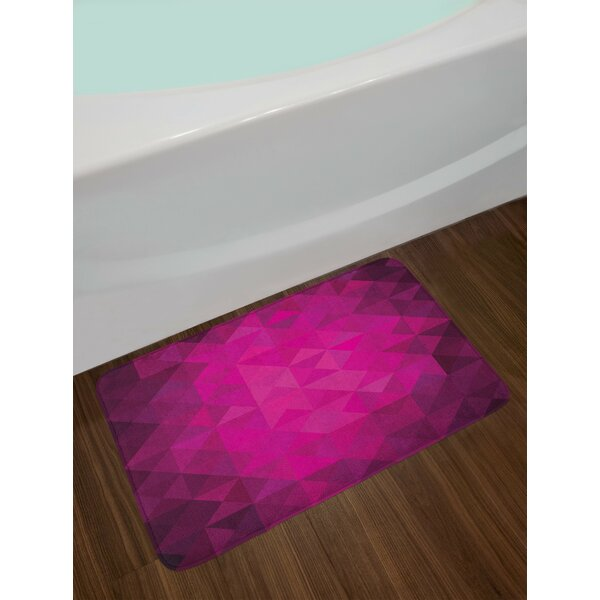 Vibrant Hot Pink Purple Plum Hot Pink Bath Rug by East Urban Home