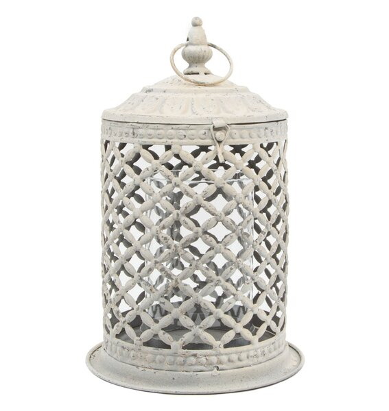 Metal and Glass Lantern by Serene Spaces Living