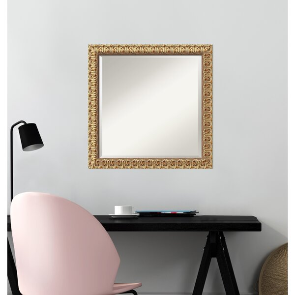 Florentine Gold Square Wall Mirror by Amanti Art