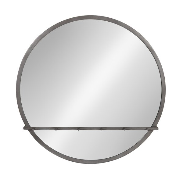 Fowles Round Metal Framed Accent Mirror by Wrought Studio