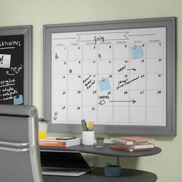 Contemporary Wall Mounted  Dry Erase Board by Ivy Bronx