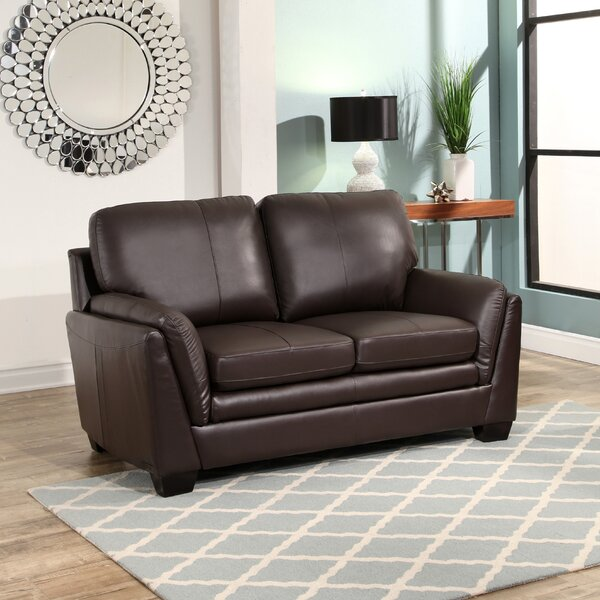 Whitstran Leather Loveseat by Darby Home Co