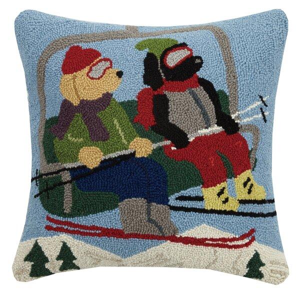 Wynne Ski Lift Dog Hook Wool Throw Pillow by Millwood Pines