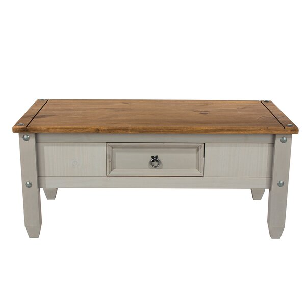 Itzel Solid Wood Coffee Table With Storage By Rosalind Wheeler