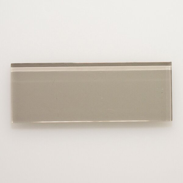 3 x 8 Glass Field Tile in Light Gray by Seven Seas