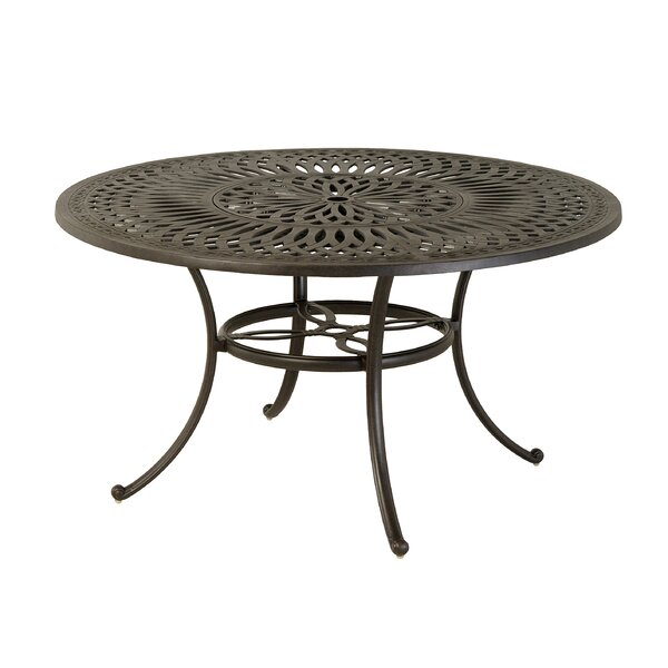Merlyn Metal Dining Table by Fleur De Lis Living