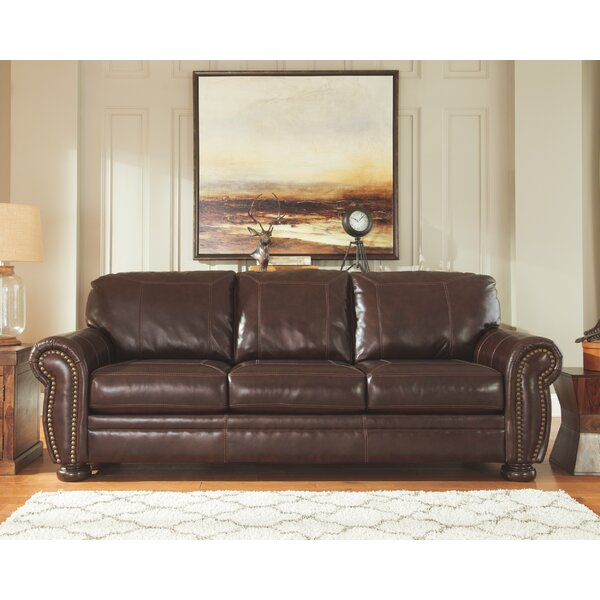 Discounts Ryan Leather Sofa by Trent Austin Design by Trent Austin Design