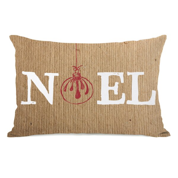 Noel Ornament Paper Lumbar Pillow by One Bella Casa