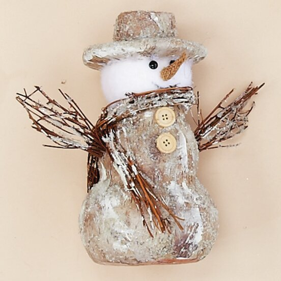 Snowman with Twigs by The Holiday Aisle