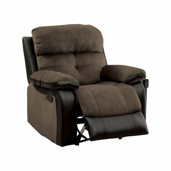 Hadley Transitional Manual Rocker Recliner By Benzara