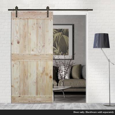 Kiby 3 Panels Shaker Solid Wood Panelled Slab Interior Door