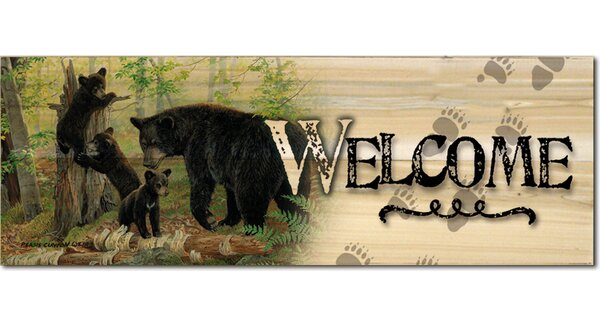 Welcome Playtime Graphic Art Plaque by WGI-GALLERY