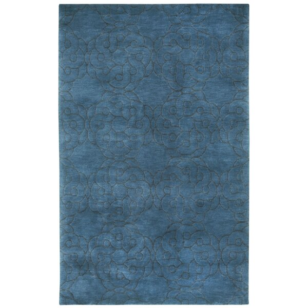 Cococozy Coil Hand Knotted Blue Area Rug by Capel Rugs