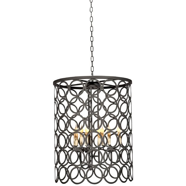 Ringlet 9-Light Drum Chandelier By Ellahome