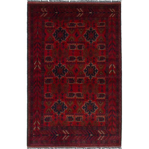 One-of-a-Kind Bouldercombe Hand-Knotted Red Area Rug by World Menagerie