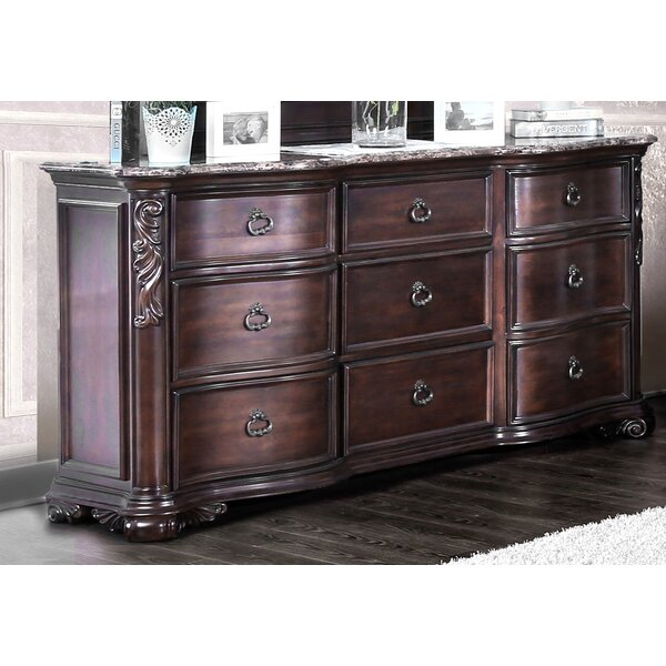 Rippy Traditional 9 Drawer Dresser by Astoria Grand