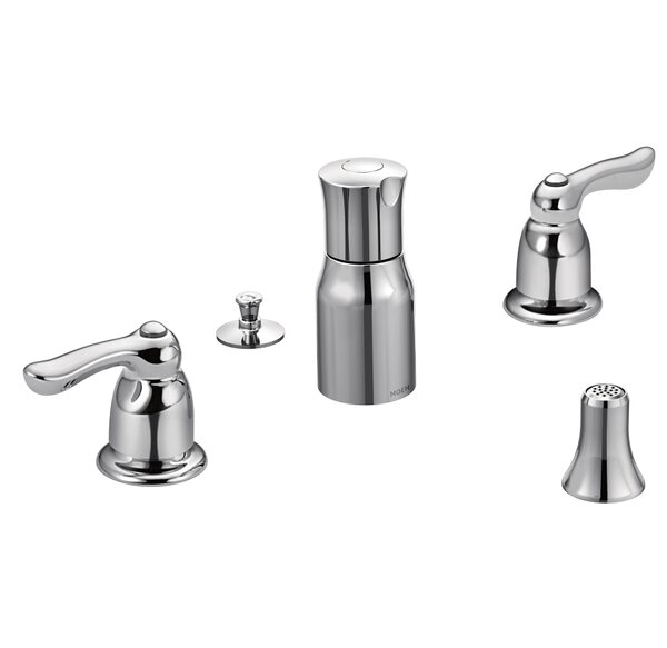 Chateau Double Handle Widespread Vertical Spray Bidet Faucet by Moen
