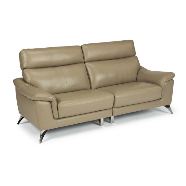 Zurcher Leather Sofa by Orren Ellis