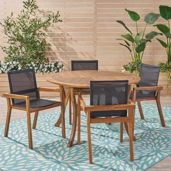 Mumford Outdoor 5 Piece Dining Set by Union Rustic
