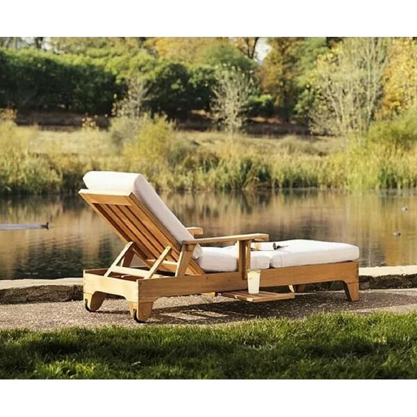 Mair Grade-A Caranas Multi Position Sun Reclining Teak Chaise Lounge by Highland Dunes Highland Dunes
