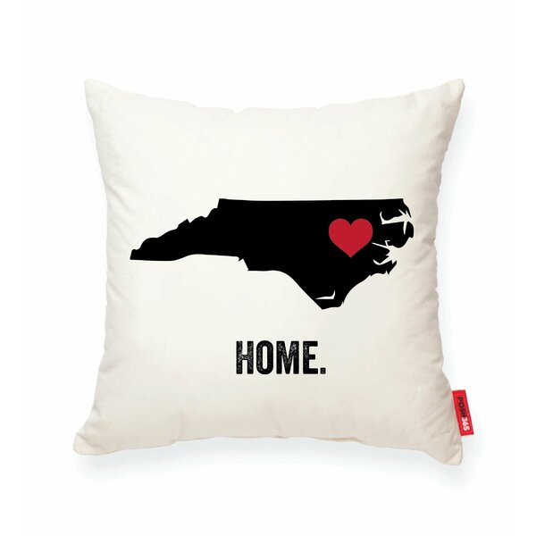Pettry North Carolina Cotton Throw Pillow by Wrought Studio