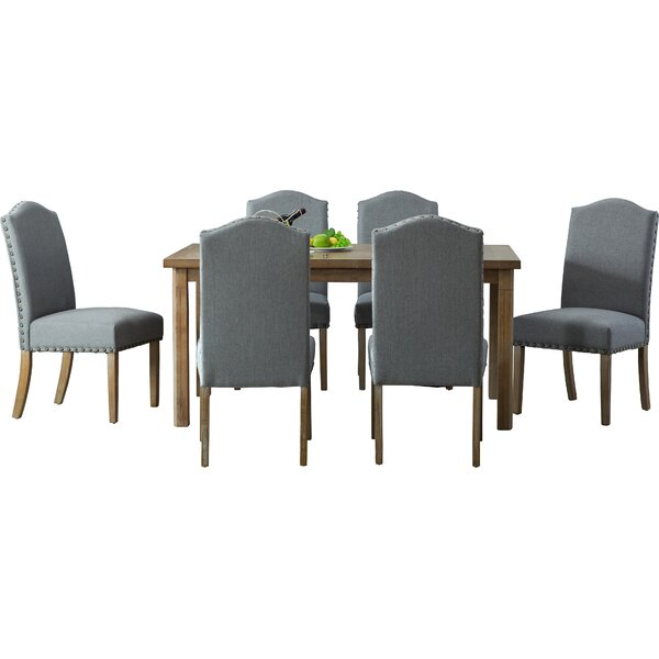 Eleanor Solid Wood 7 Piece Dining Set by Mistana