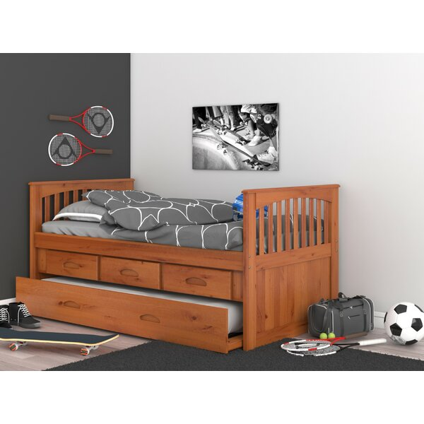 Letizia Twin Sleigh Bed with Trundle and Drawers by Birch Lane™ Heritage