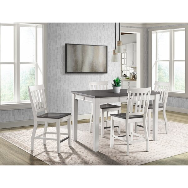 Jamison 5 Piece Counter Height Extendable Dining Set by August Grove