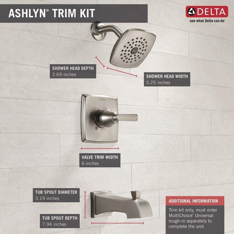 Ashlyn Pressure Balance Tub And Shower Faucet Trim