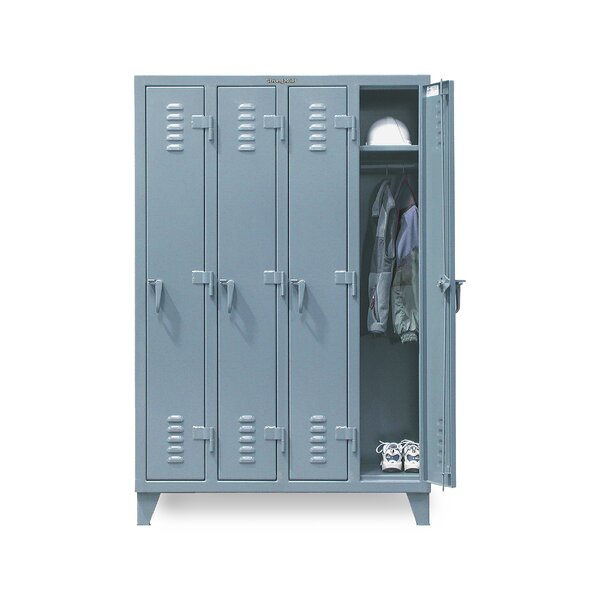 2 Tier 4 Wide Employee Locker by Strong Hold Products