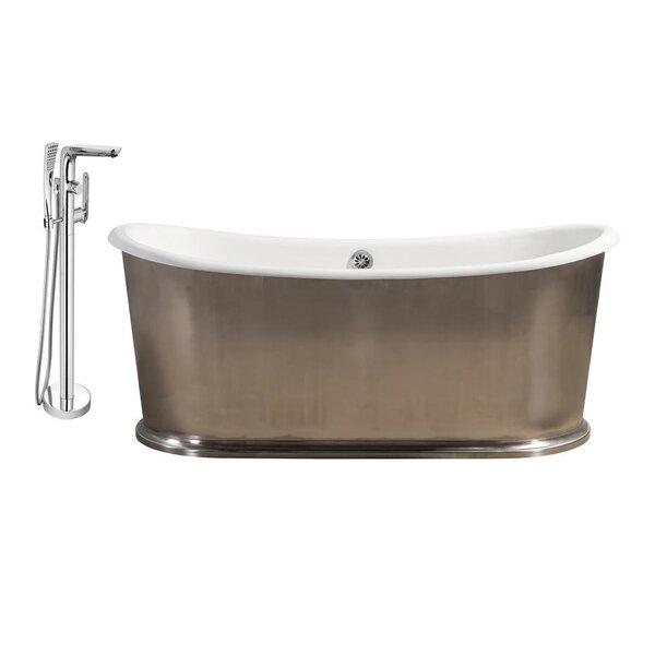 Cast Iron 72 x 31 Freestanding Soaking Bathtub by Streamline Bath