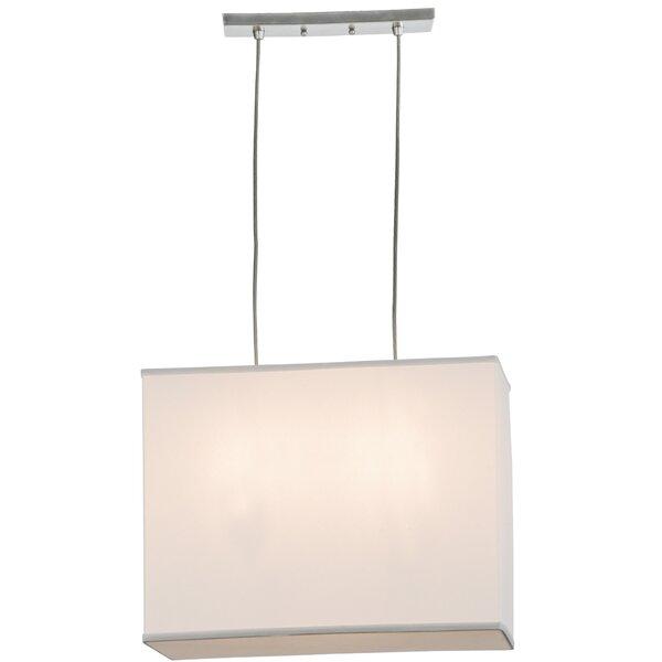 2 - Light Shaded Square / Rectangle Chandelier by Meyda Tiffany Meyda Tiffany