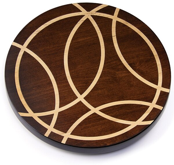 Artisan Woods Intersecting Lines Lazy Susan by Martins Homewares