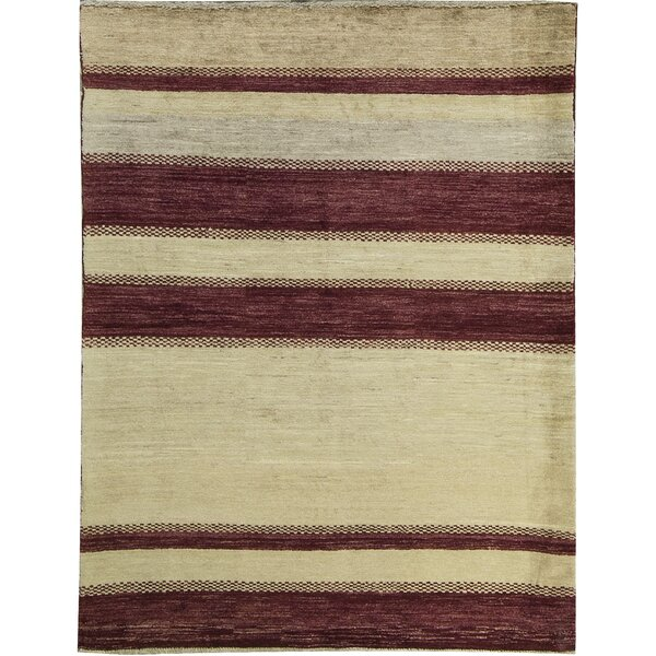 Ziegler Hand-Knotted Wool Cream/Red Area Rug by Bokara Rug Co., Inc.