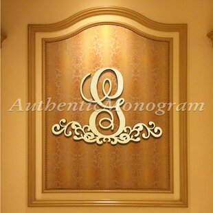 wooden ampersand decorated monogram letter wall decor