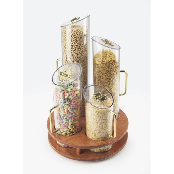 Round 5 Piece Cereal Dispenser Set by Cal-Mil