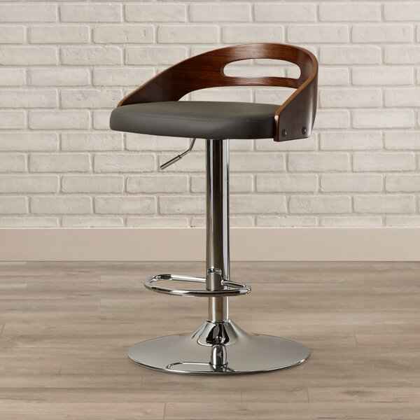 Zarate Adjustable Swivel Bar Stool by Brayden Studio