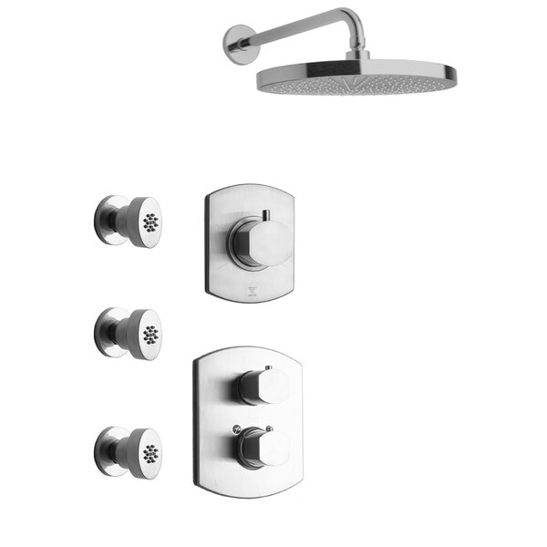 Novello Thermostatic Rain Shower Head Complete Shower System by LaToscana