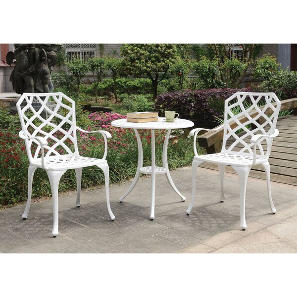 Anissa Patio 3 Piece Bistro Set by August Grove