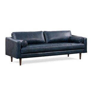 Navy Blue Leather Sofa Wayfair