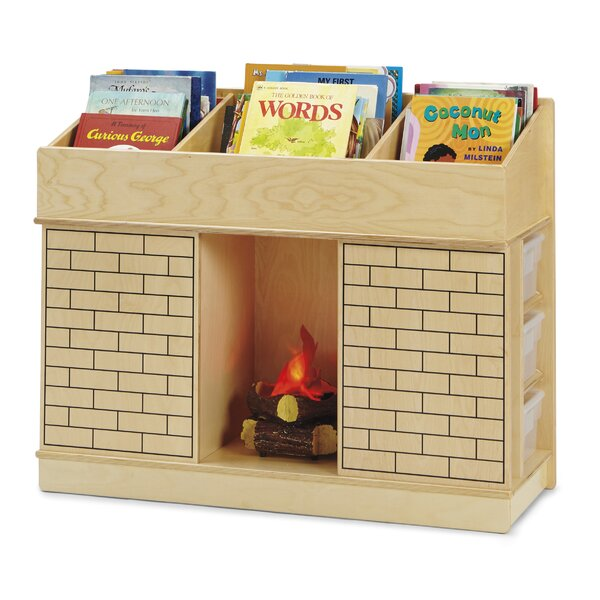 Storybook Fireplace Book Display with Trays by Jonti-Craft