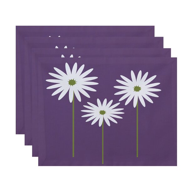 Daisy May Floral Placemat (Set of 4) by e by design