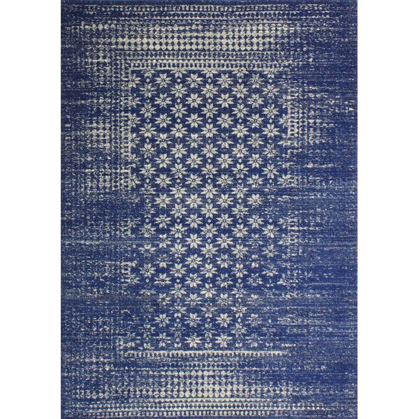 Melvin Machine Woven Polypropylene Dark Blue Area Rug by Langley Street