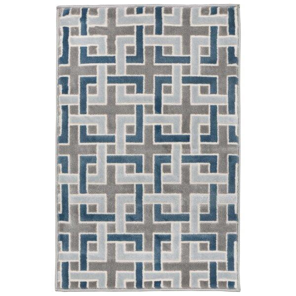 Kari Deco Blue/Gray Area Rug by Wrought Studio