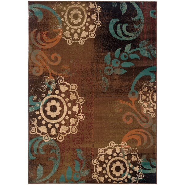 Bienville Brown/Blue Area Rug by Andover Mills