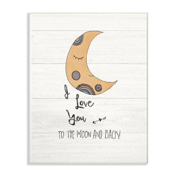 Felan I Love You Moon Decorative Plaque by Harriet Bee