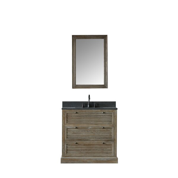 Emilio 37 Single Bathroom Vanity Set with Mirror by Millwood Pines